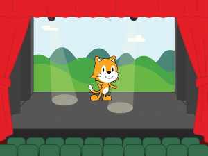 Scratch Cat on Stage